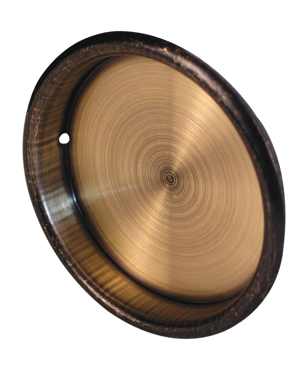 2 inch inset sliding closet door pull handle, Antique Brass plated, 2 per pkg.