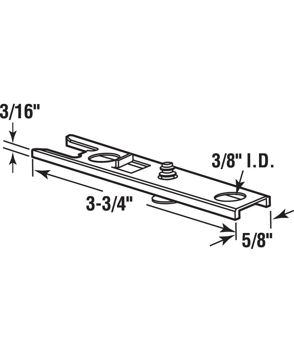 Bi-Fold Door Top Pivot Bracket, Fits 5/8 inch wide Track, Acme, 1 per package