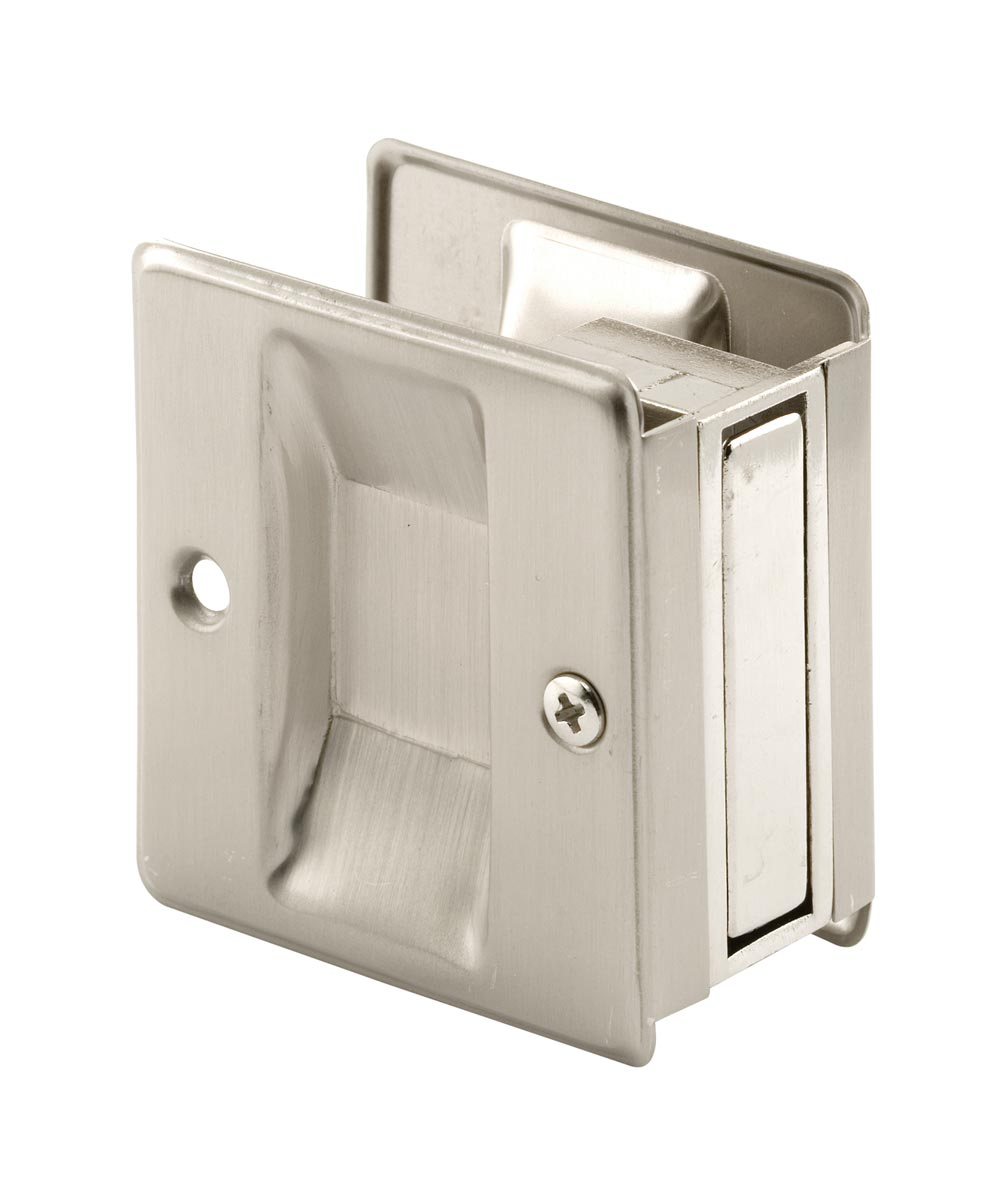 Pocket Door Pull, 2-3/4 inches tall, Satin Nickel, 1 Pack