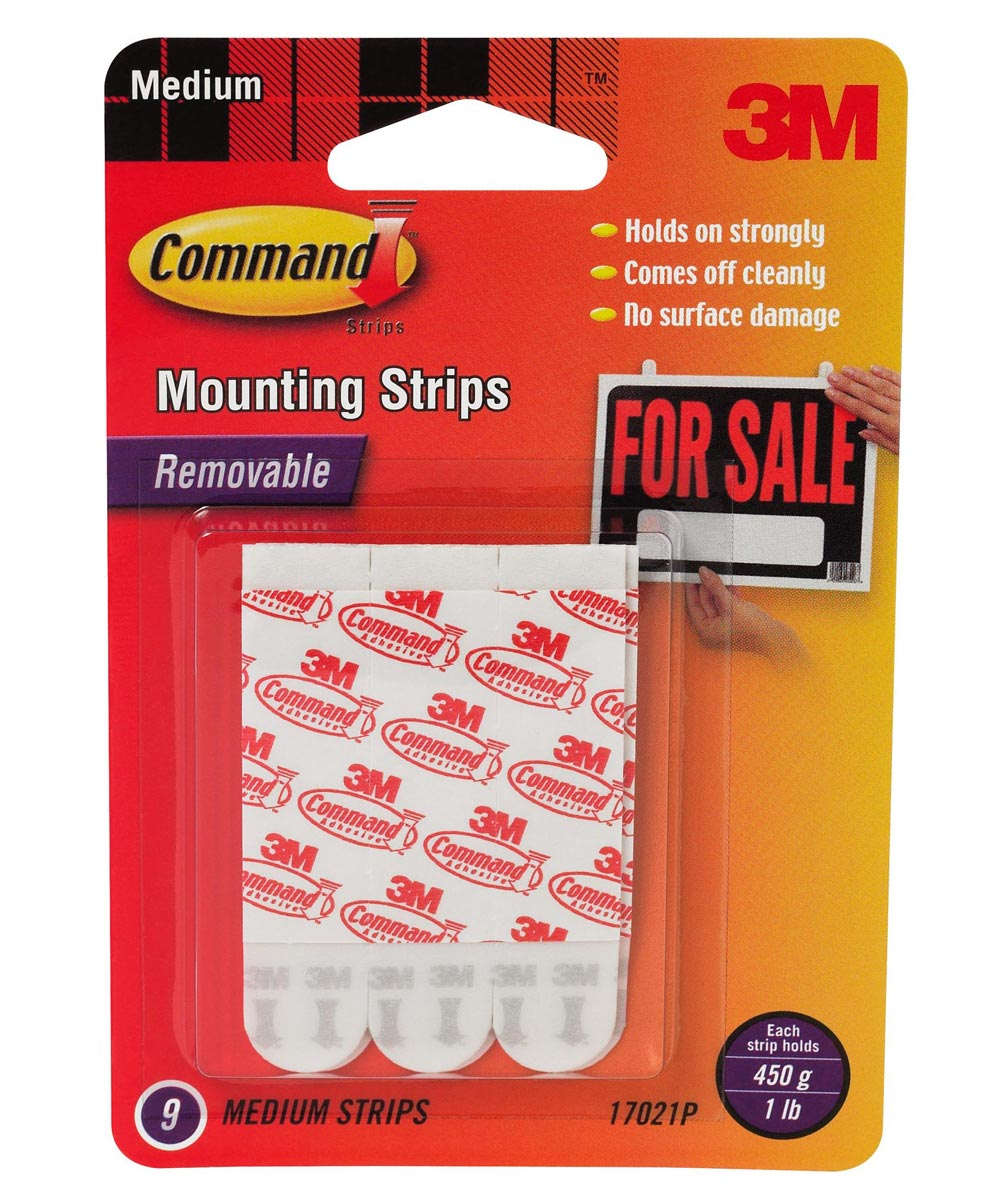 Medium Command Mounting Strips 9 Count
