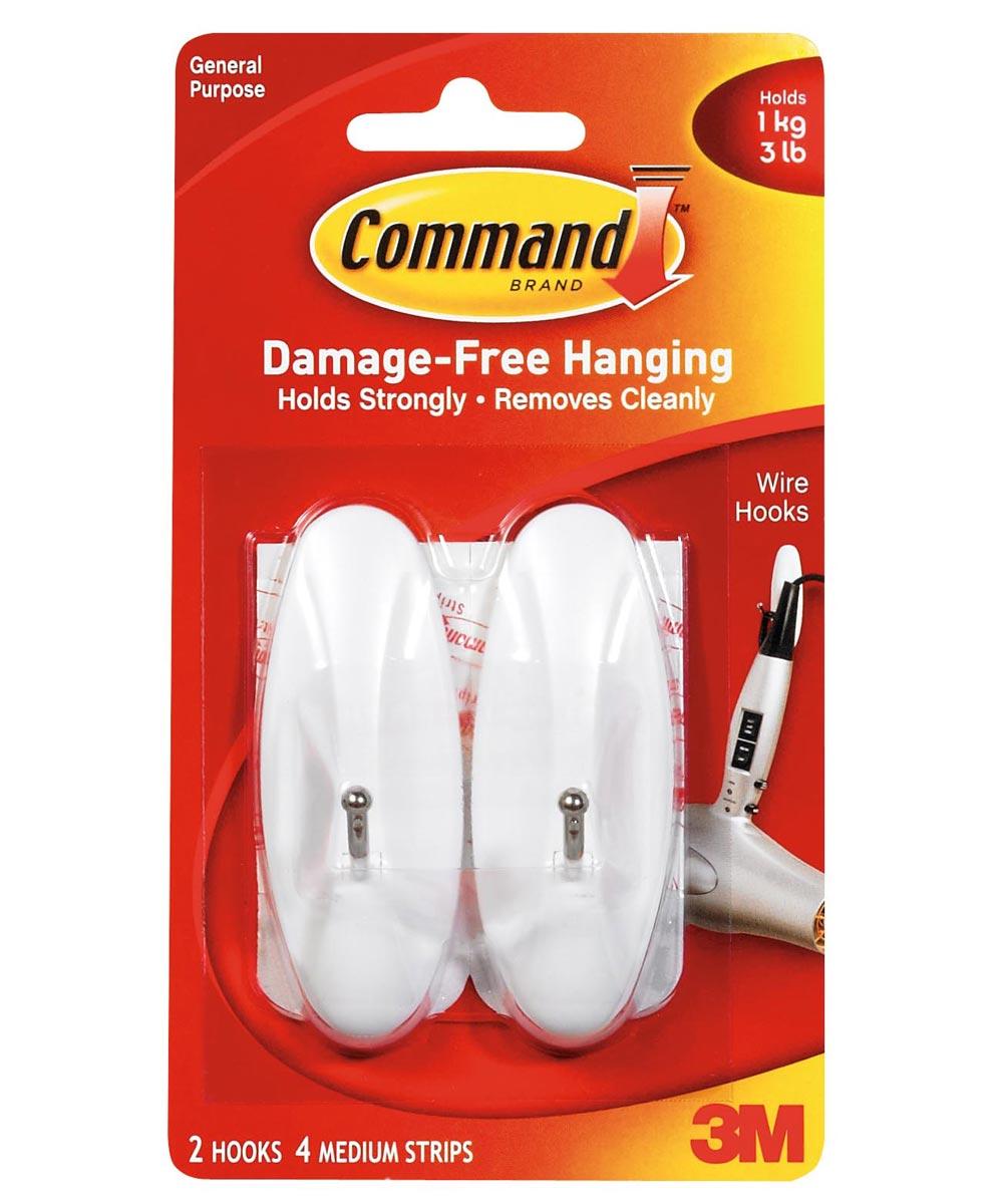 Medium Command Wire Hooks 2 Count