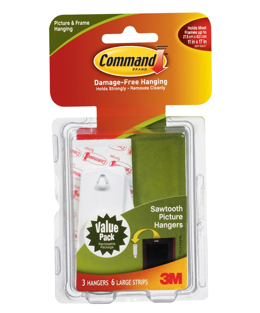 Command Sawtooth Picture Hooks 3 Count
