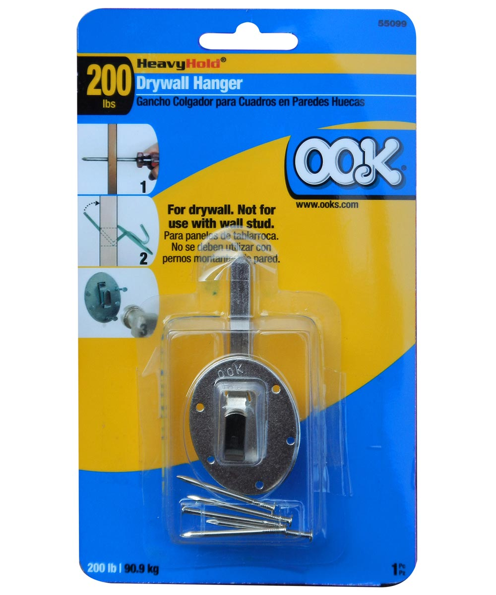 OOK Heavy Hold Drywall Picture Hanger 200lb