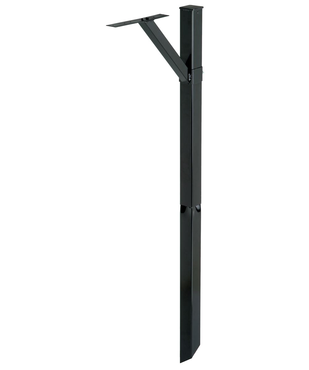 Adjustable Mailbox Mounting Post, Black