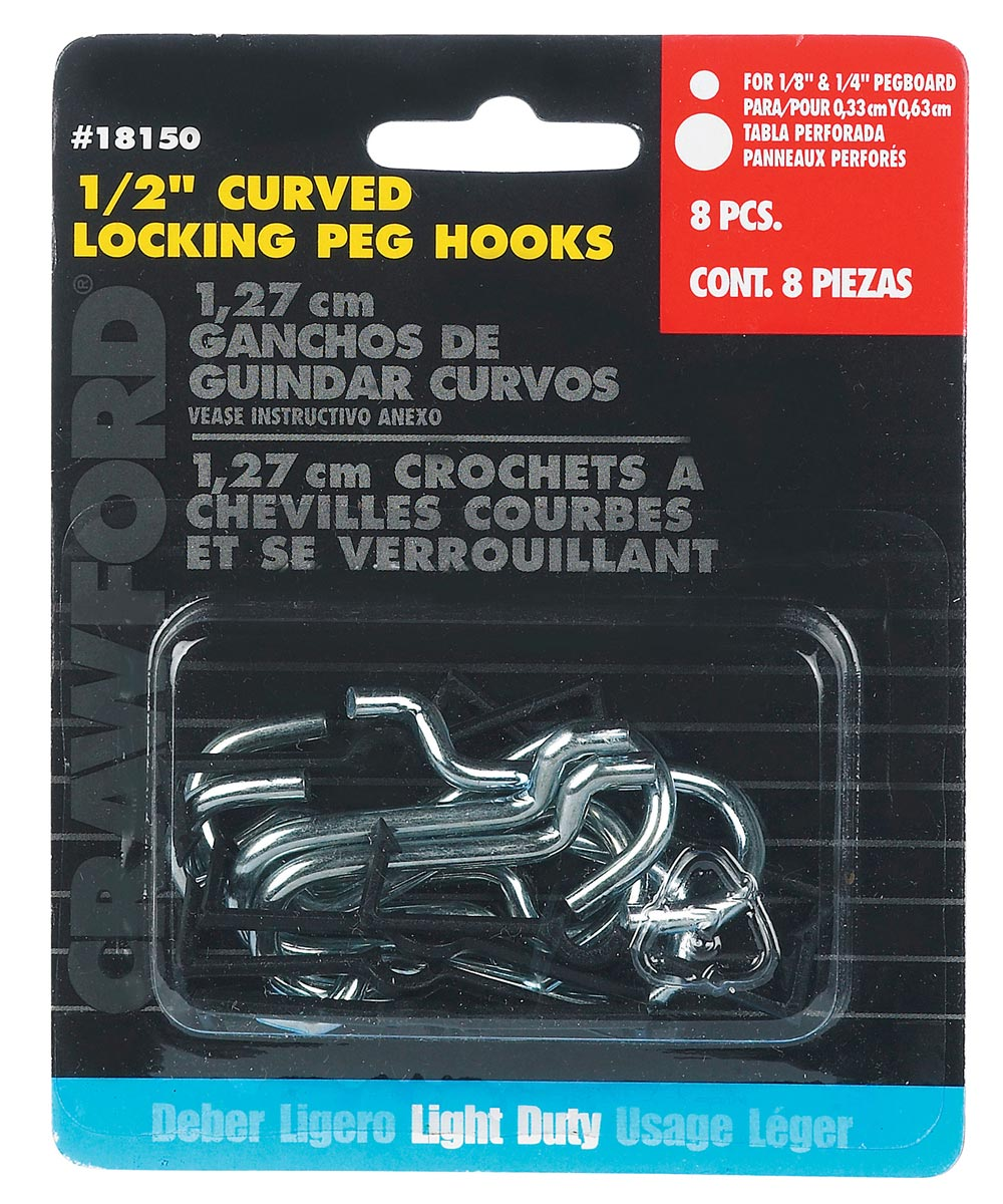 Curved Hook With Peg Lock