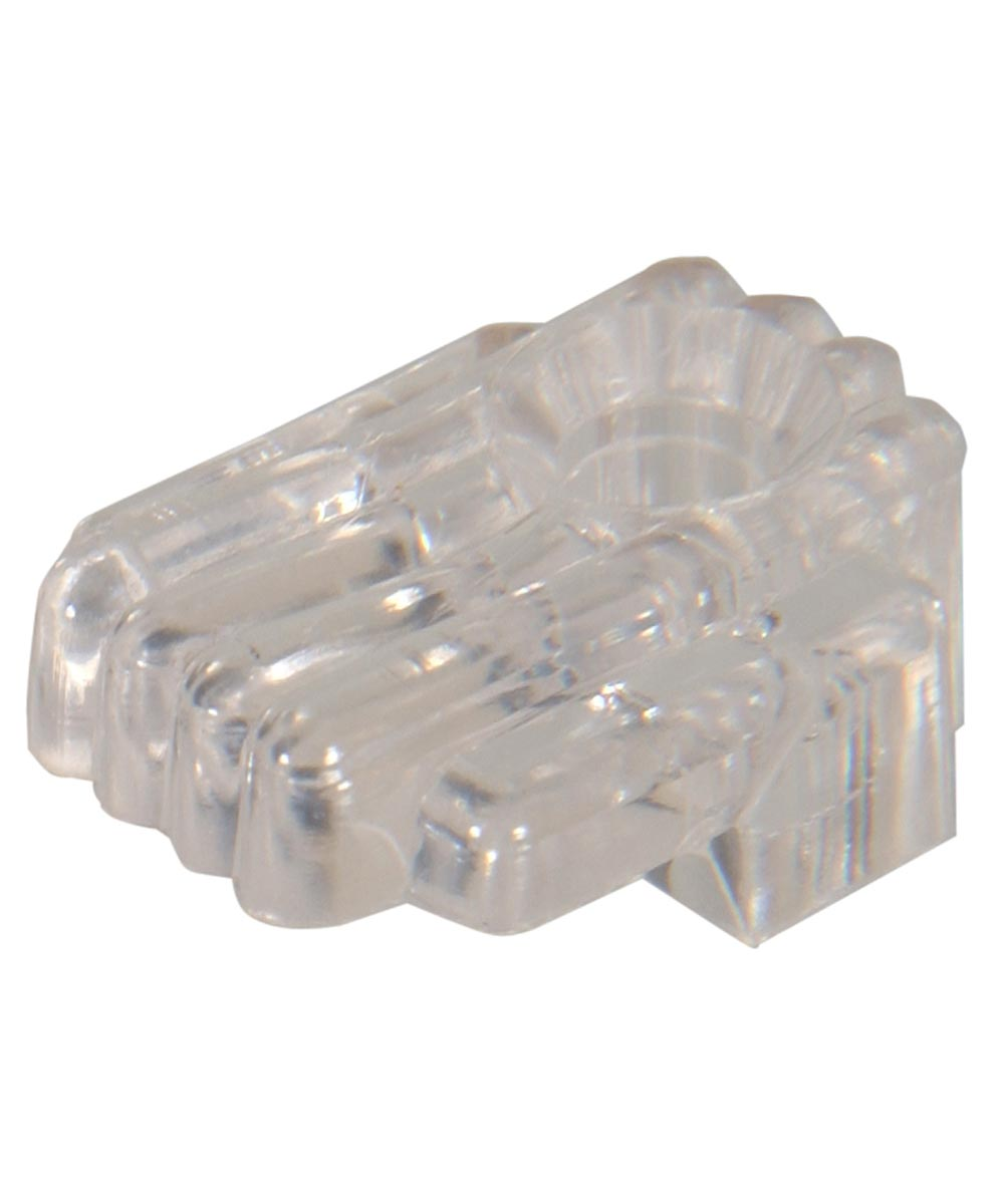 Plastic Mirror Clip (Art Deco Style with 1/4 in. Channel)