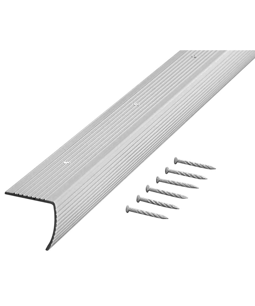 72 in. Silver Fluted Stair Edging
