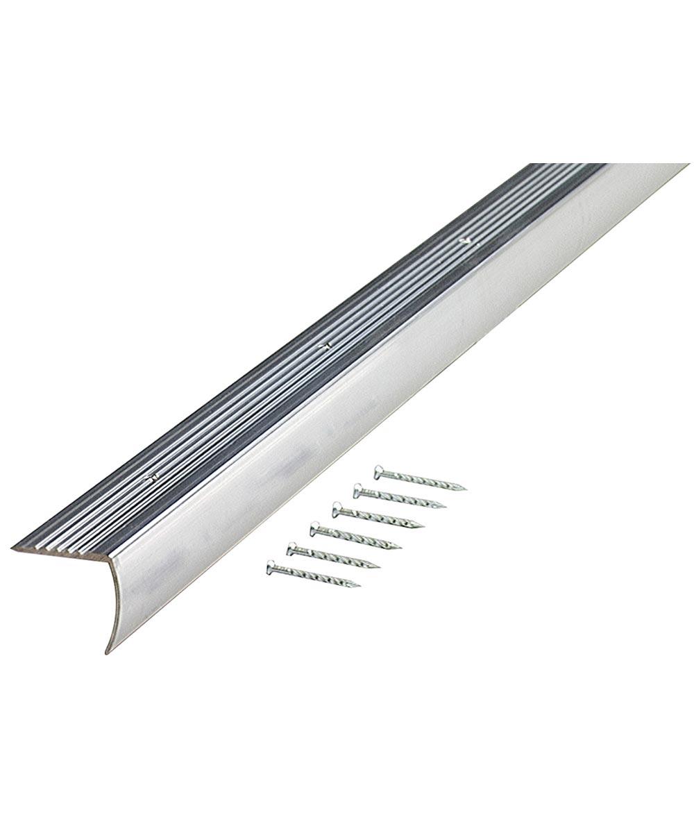 1-1/8 in. x 72 in. PB Aluminum Floor & Carpet Stair Edging