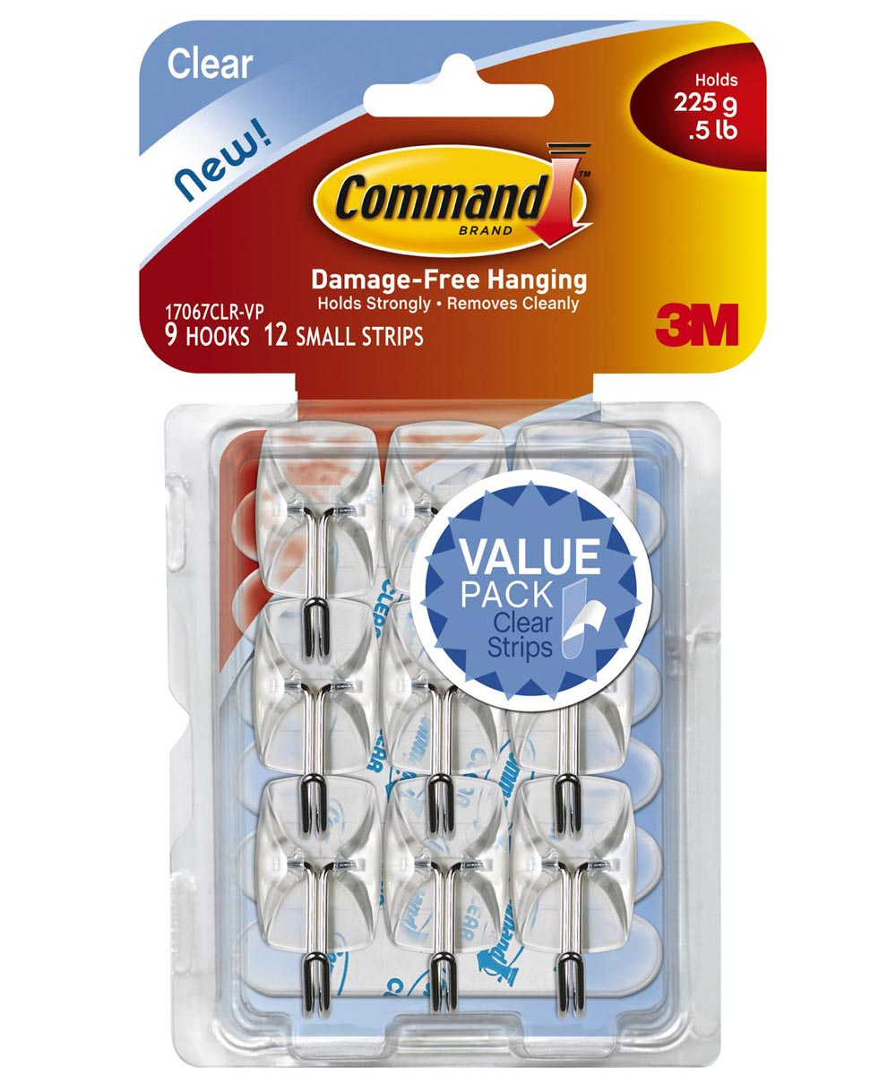 Clear Command Wire Hooks