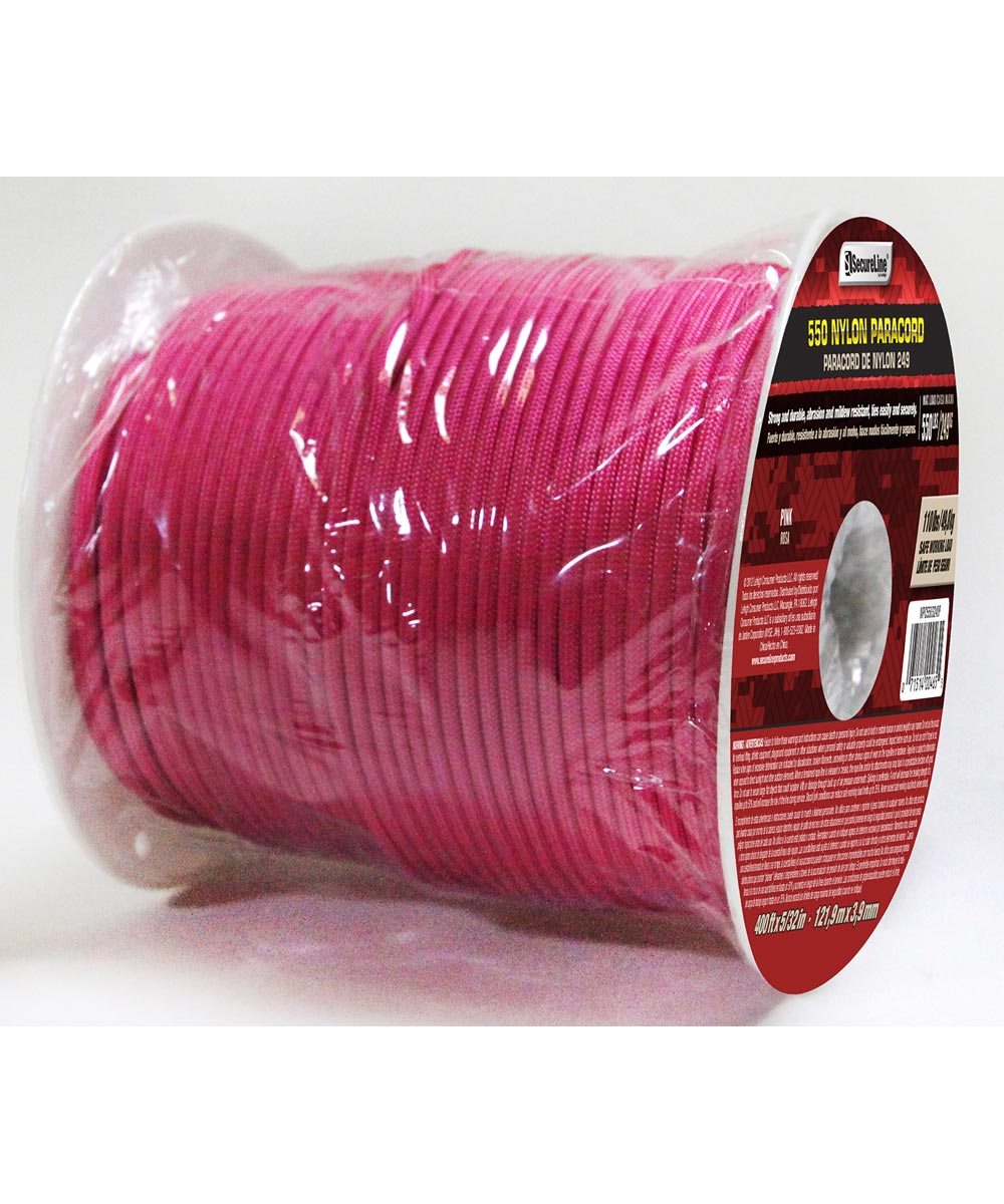 5/32 in. Pink 550 Nylon Paracord (Sold Per Foot)