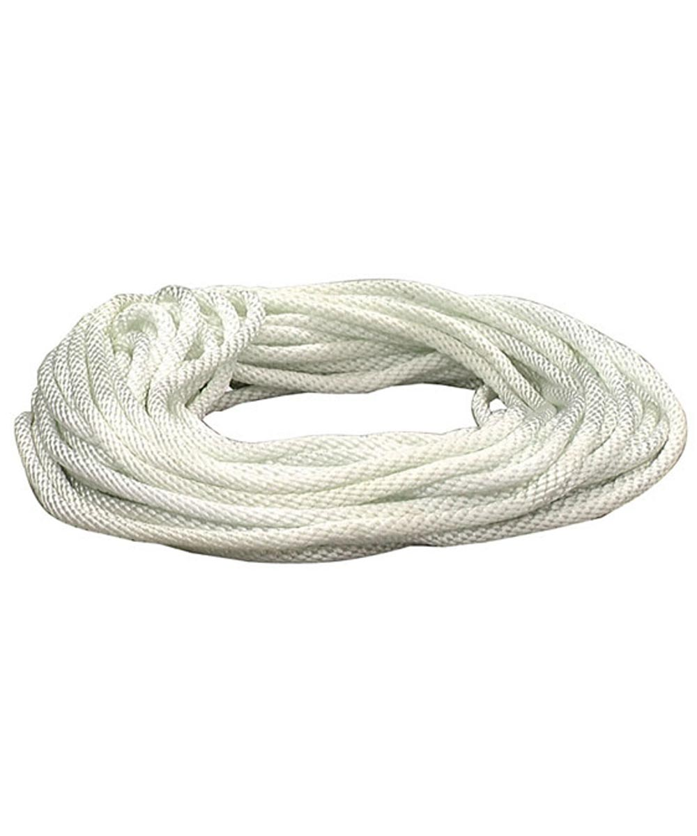 1/4 in. x 50 ft. White Nylon Solid Braid Rope