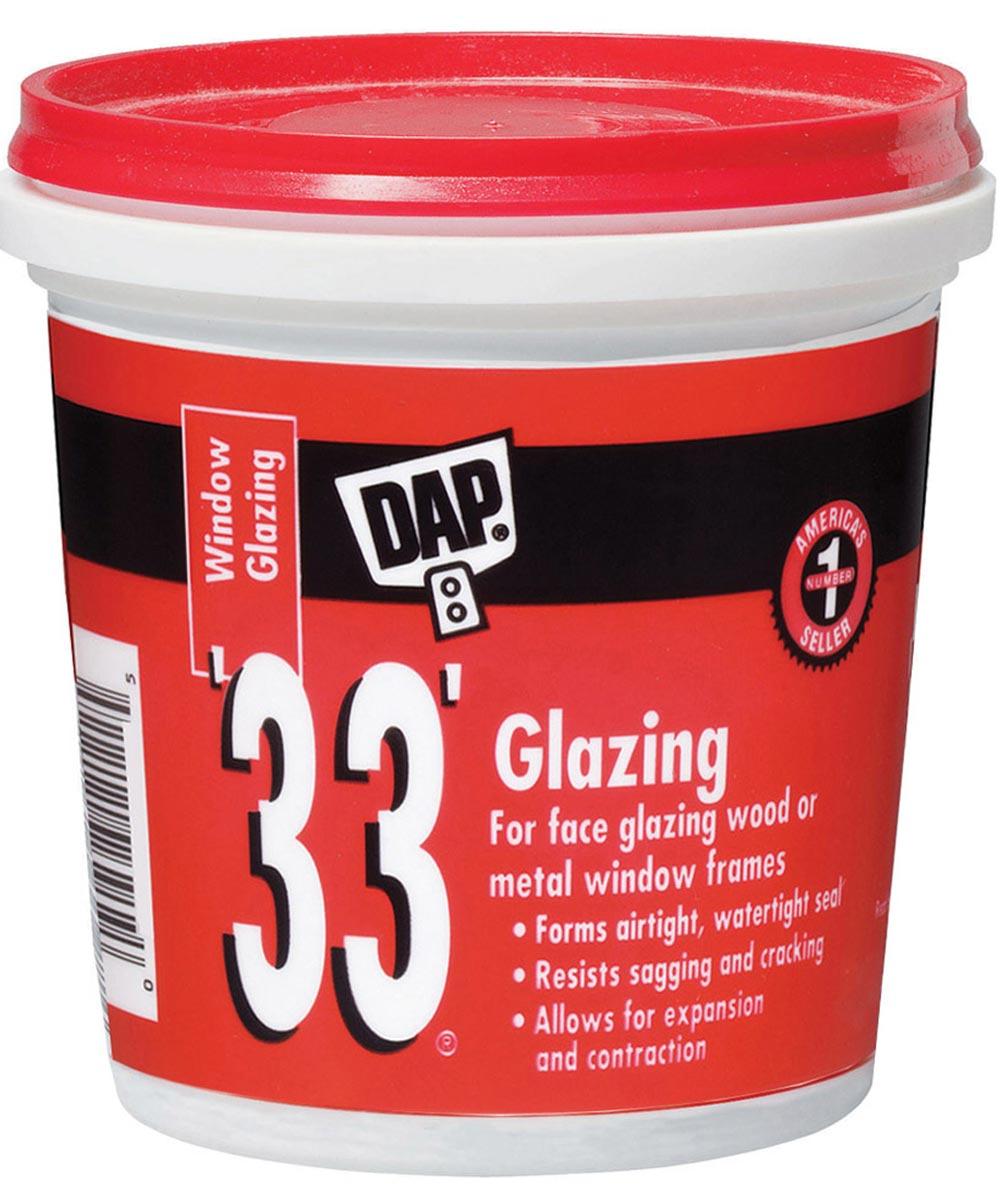 1 Pint 33 Glazing Compound White Pint
