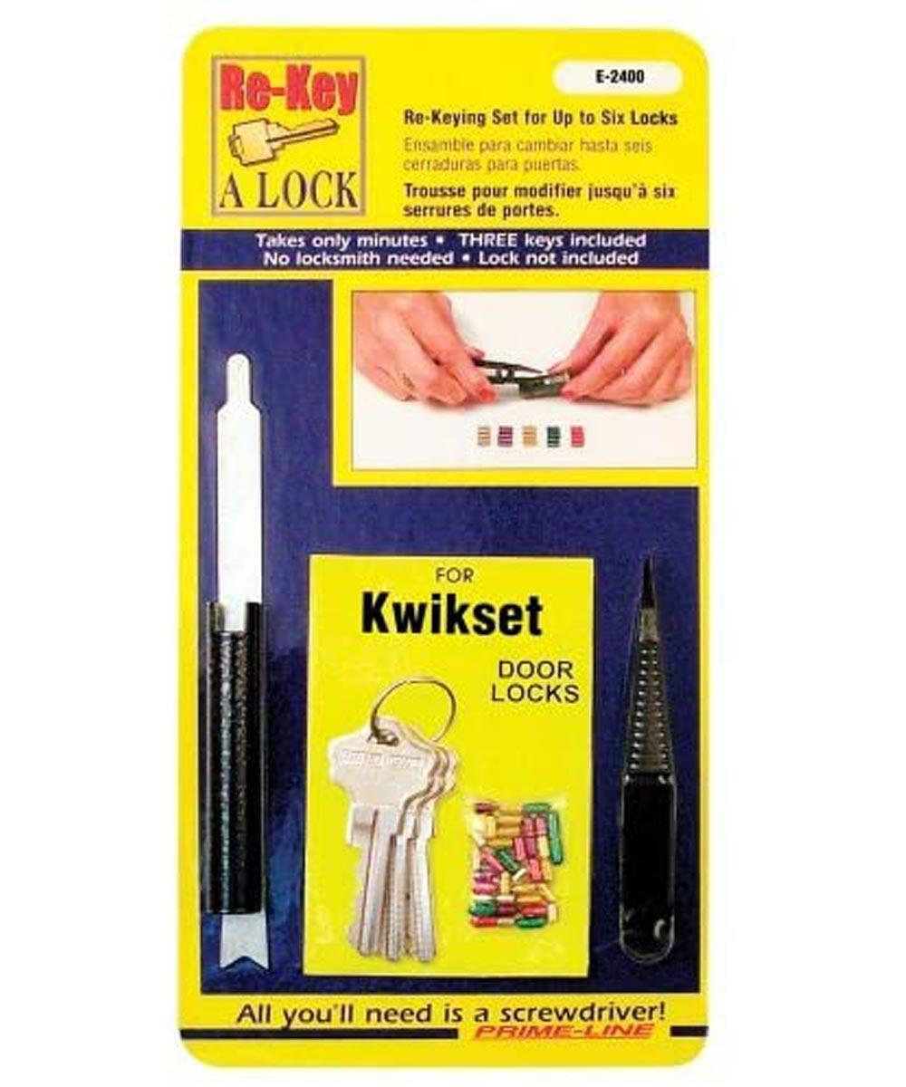 Re-Key A Lock Kit for Kwikset Brand Locks, 5-Pin Tumbler Set with Keys & Tools