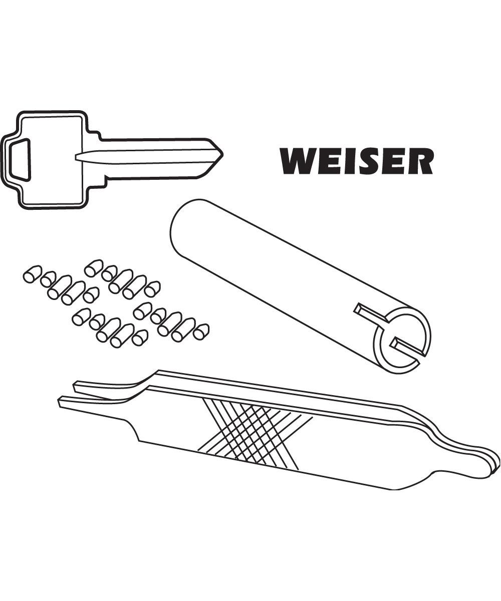 Weiser Re-Key A Lock Kit, 5-Pin Tumbler Sets w/Keys, Tools