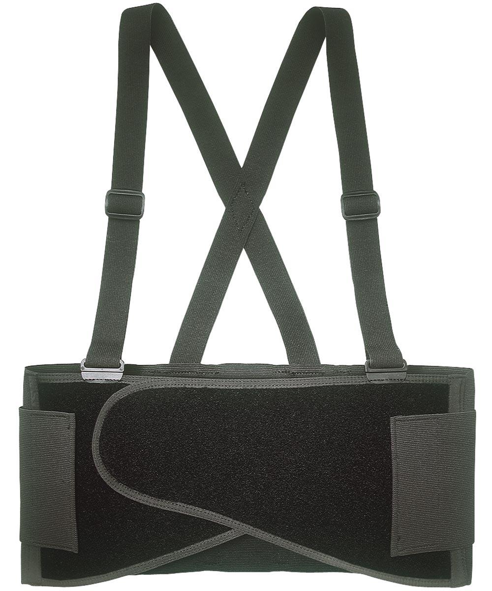 Heavy Duty Back Support Belt, Large, 38 - 47 in Waist, Black