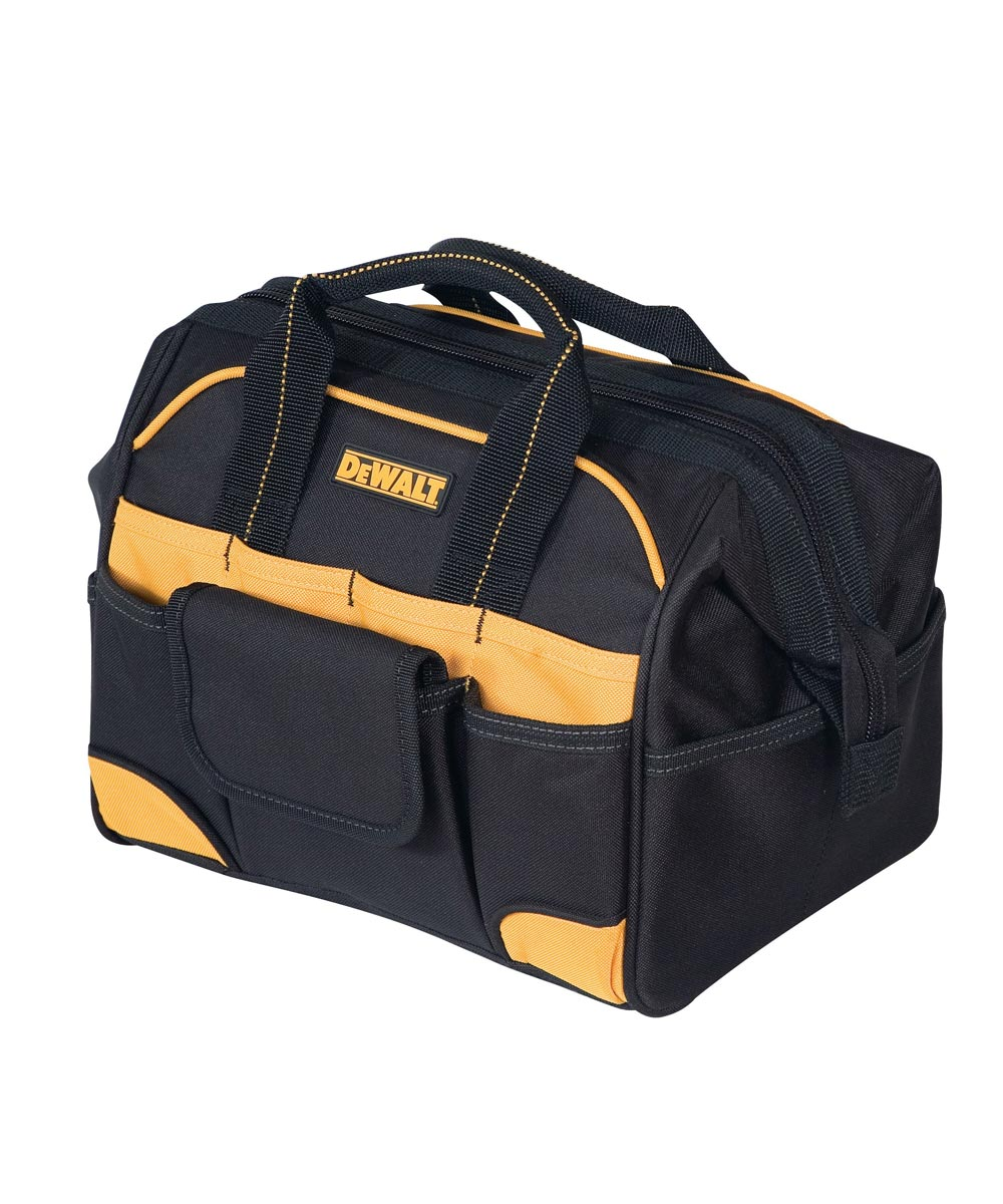Tradesman Tool Bag, 12 in. (L), Ballistic Poly Fabric, Black/Yellow