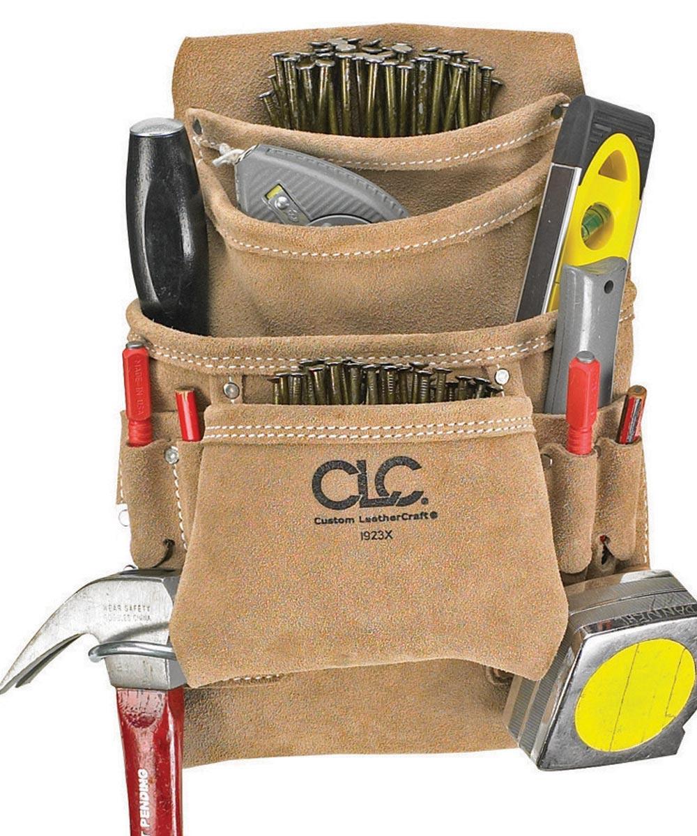 Carpenters Nail/Tool Bag, 20-1/2 in. (W) 12 in. (H), Polyester, Tan