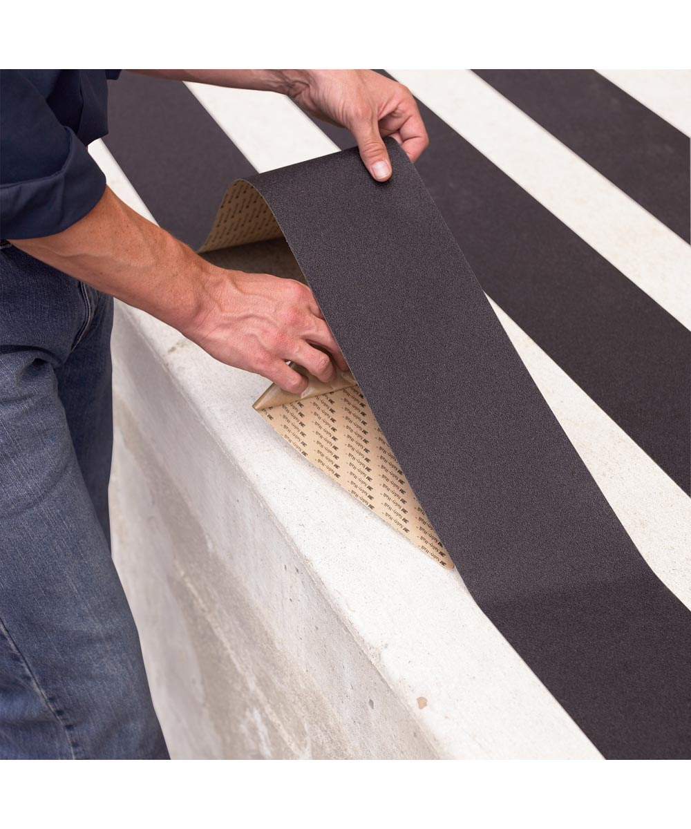 3M Safety-Walk Grip Traction Tape, Single Strip 6 in. x 24 in., Black