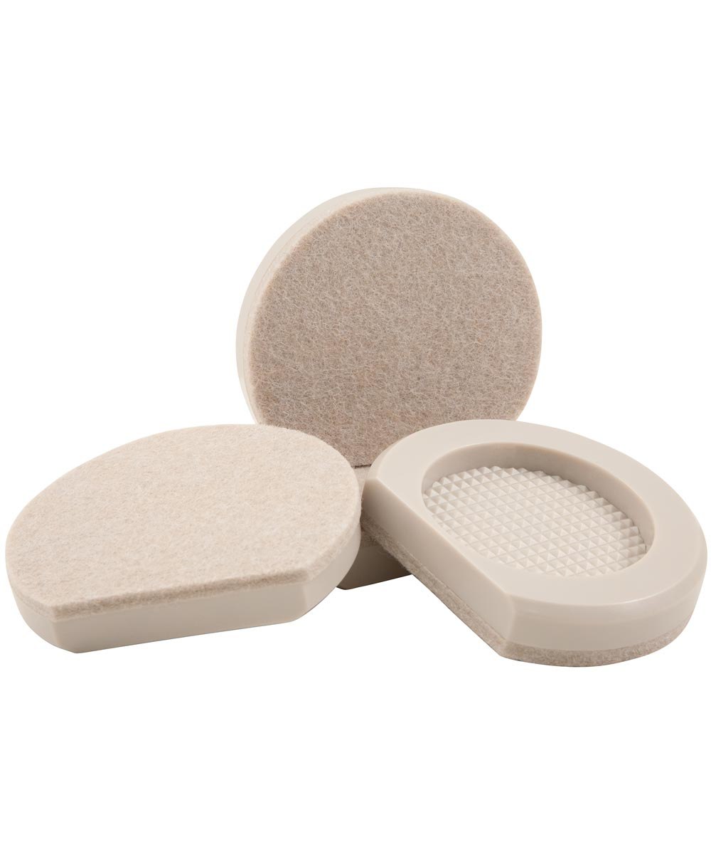 3-1/2 in. Cupped Appliance Sliders 4 Count
