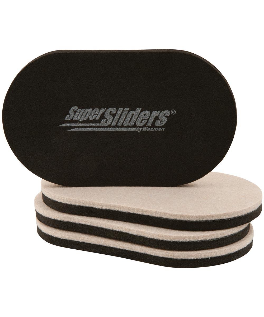 3-1/2 in. x 6 in. Hard Floor Sliders 4 Count