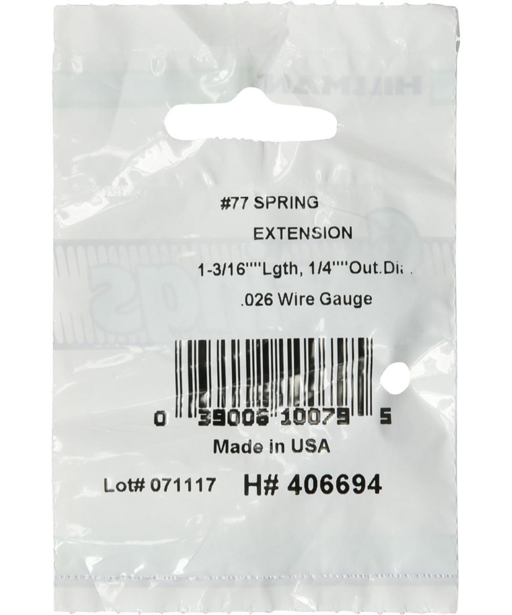#77 Extension Spring, 1/4 in. (Diam) x 1-3/16 in. (L)