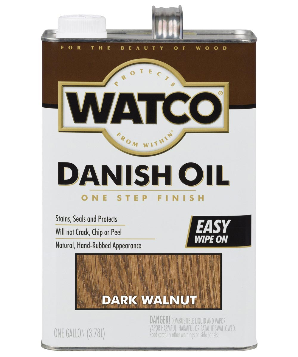 WATCO Danish Oil, 1 Gallon, Dark Walnut