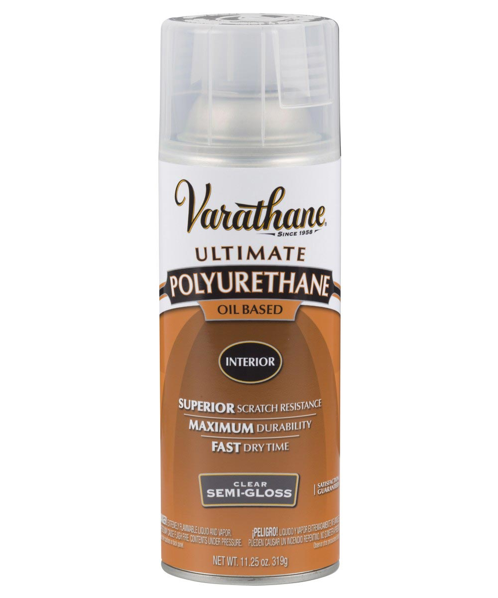 Varathane Premium Polyurethane, 11 25 oz Spray Paint, 6081 - Semi-Gloss