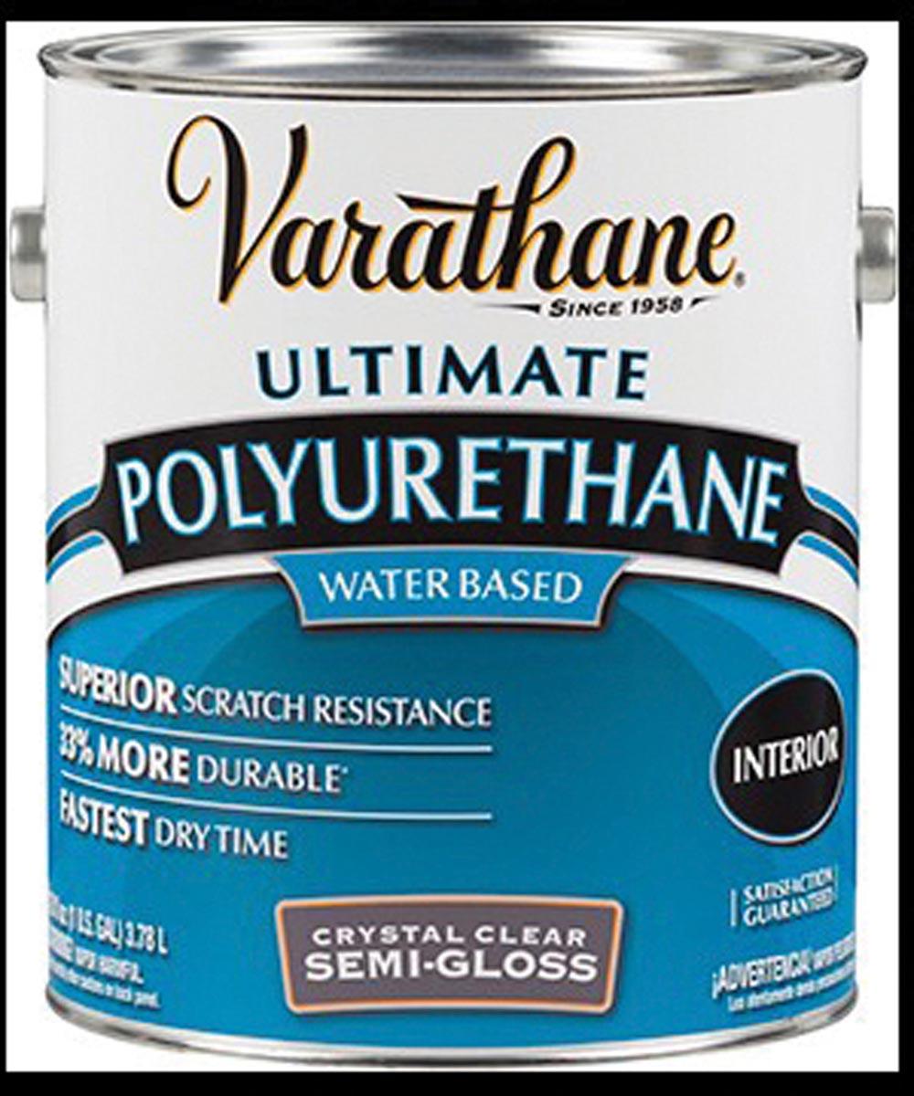 Varathane Crystal Clear Polyurethane, 1 Gallon, Semi-Gloss