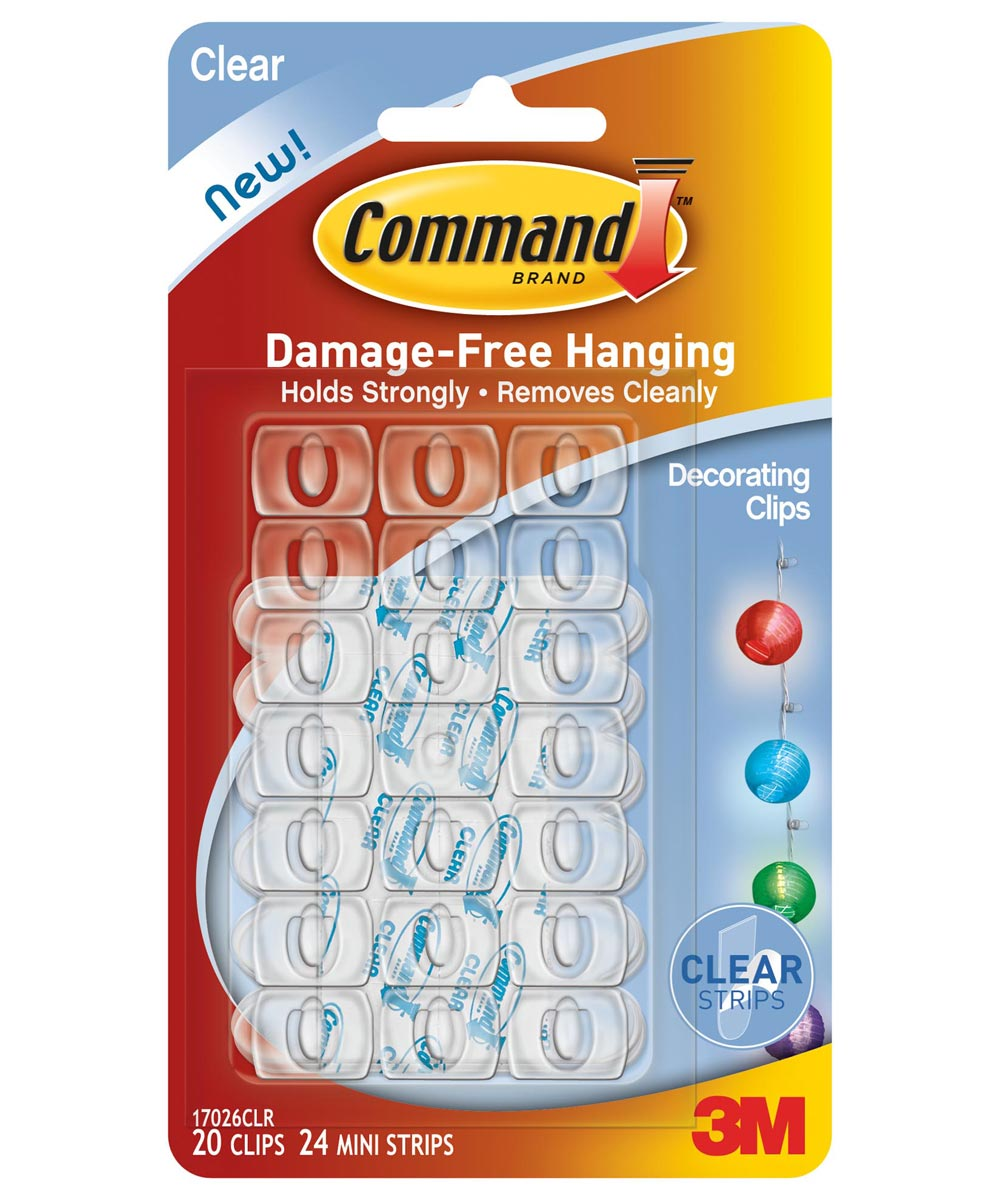 Clear Command Decorating Clips 20 Count