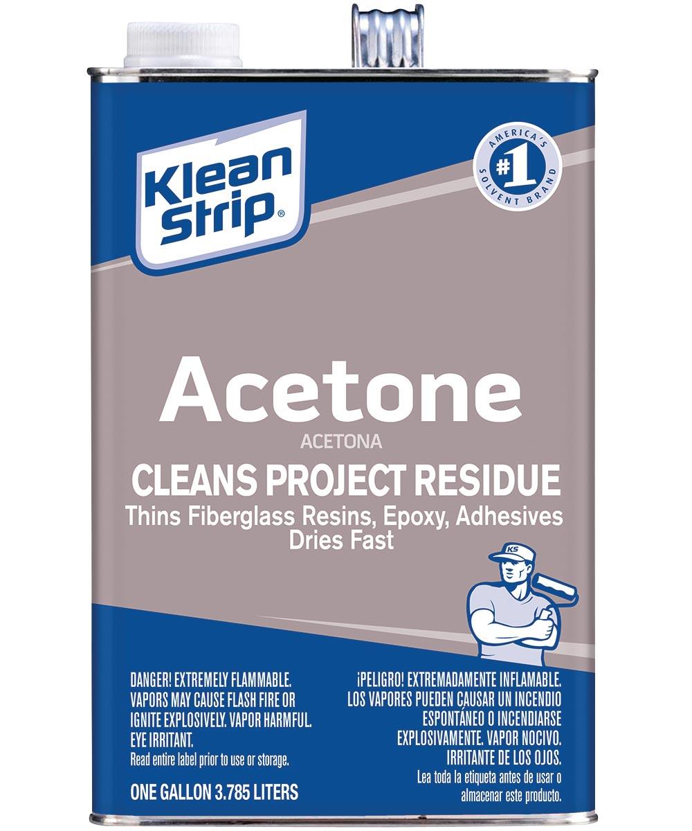 Klean-Strip Acetone, 1 gal Metal Can, Clear, Liquid