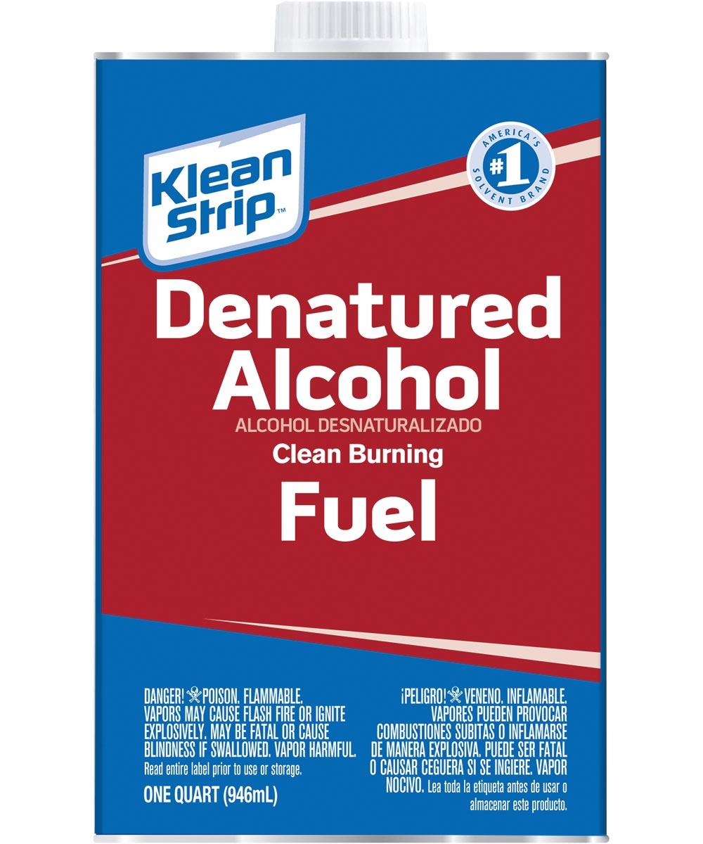 Klean-Strip Denatured Alcohol, 1 qt Can, Water White, Liquid