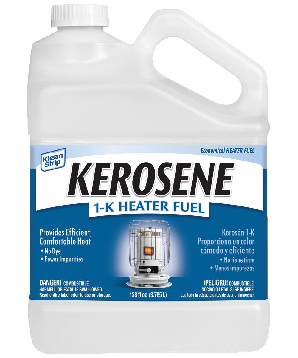 Kerosene Fuel, 1 gal Plastic Bottle, Transparent Liquid