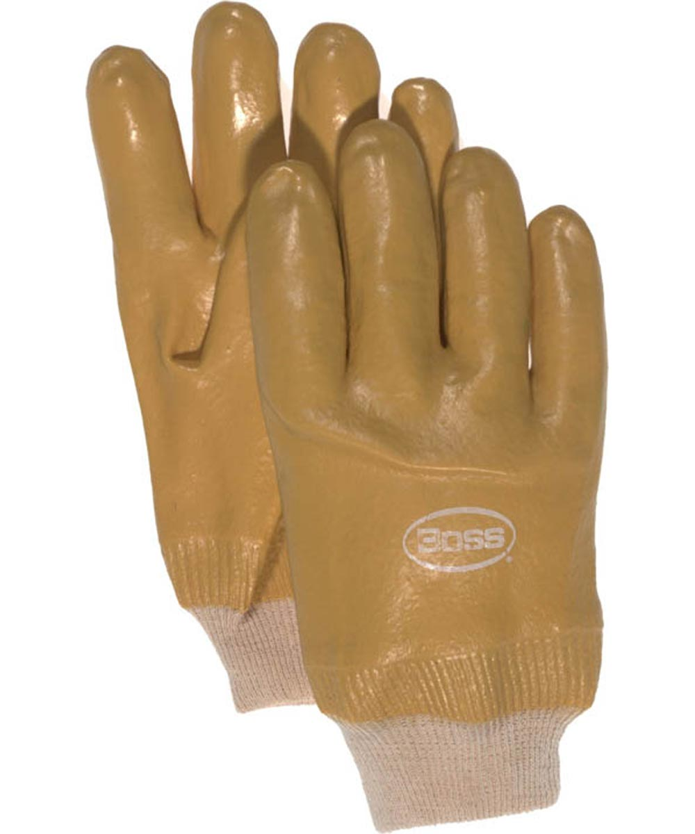 Jersey Lined PVC Gloves, LG