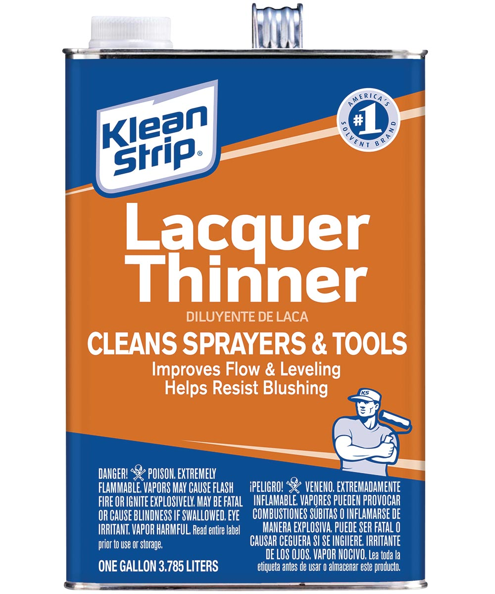 Klean-Strip Lacquer Thinner, 1 gal Metal Can, Water White, Liquid