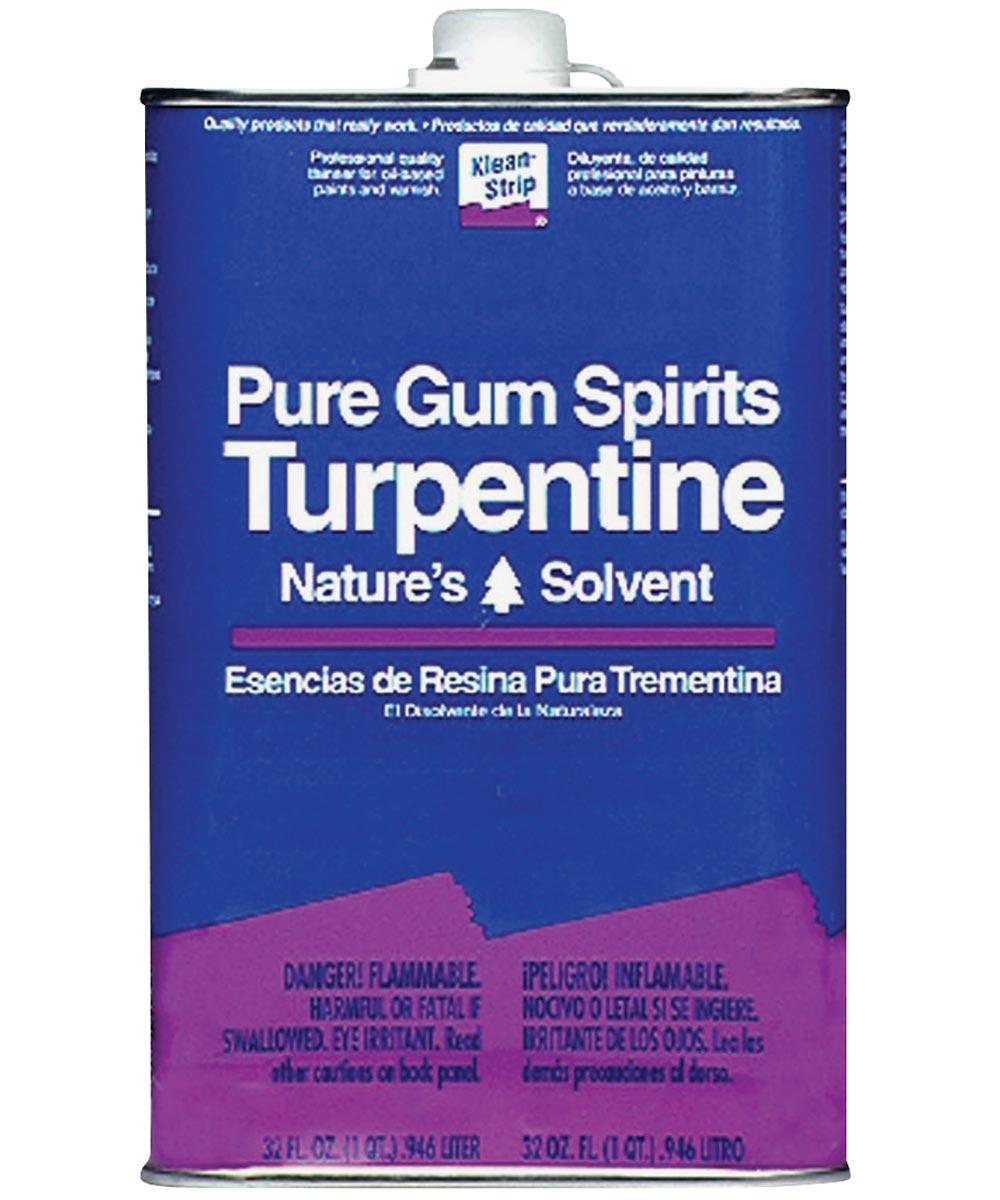 Klean-Strip Turpentine Gum Spirit, 1 qt, Clear, Liquid