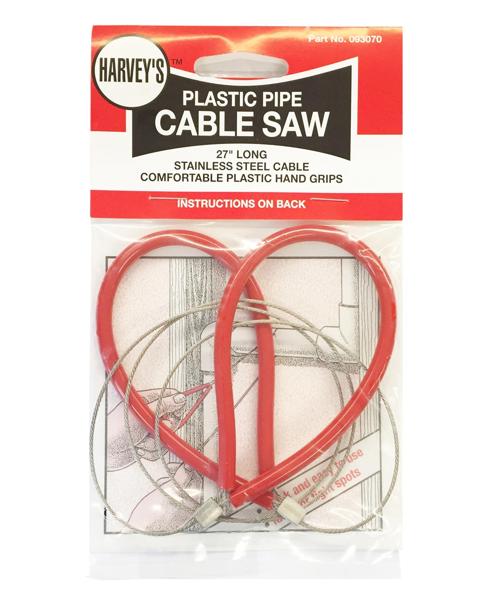 27 in. Red Plastic Pipe Cable Saw