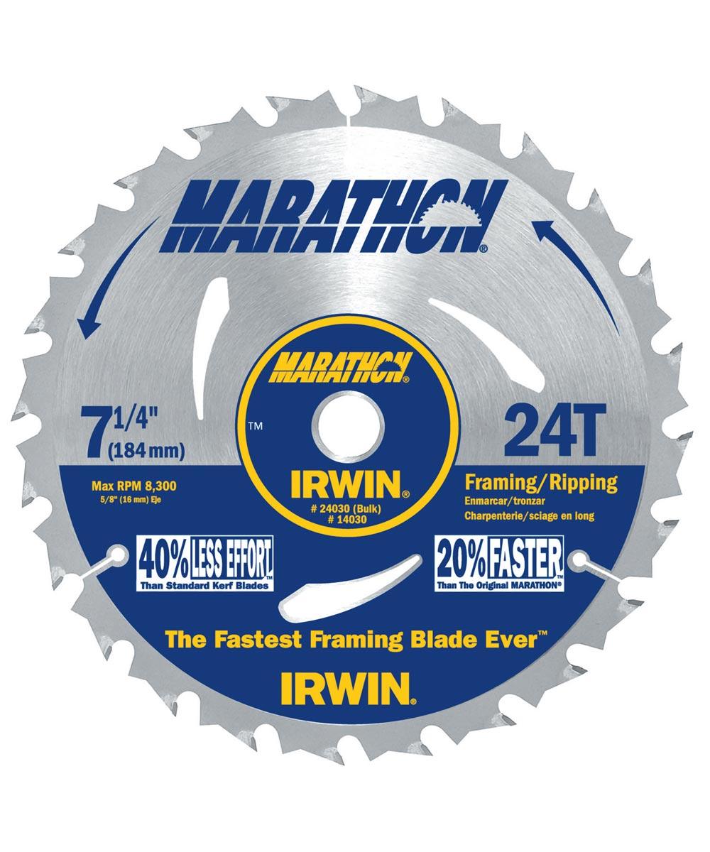 7-1/4 in. 24T Marathon Portable Corded Circular Saw Blade
