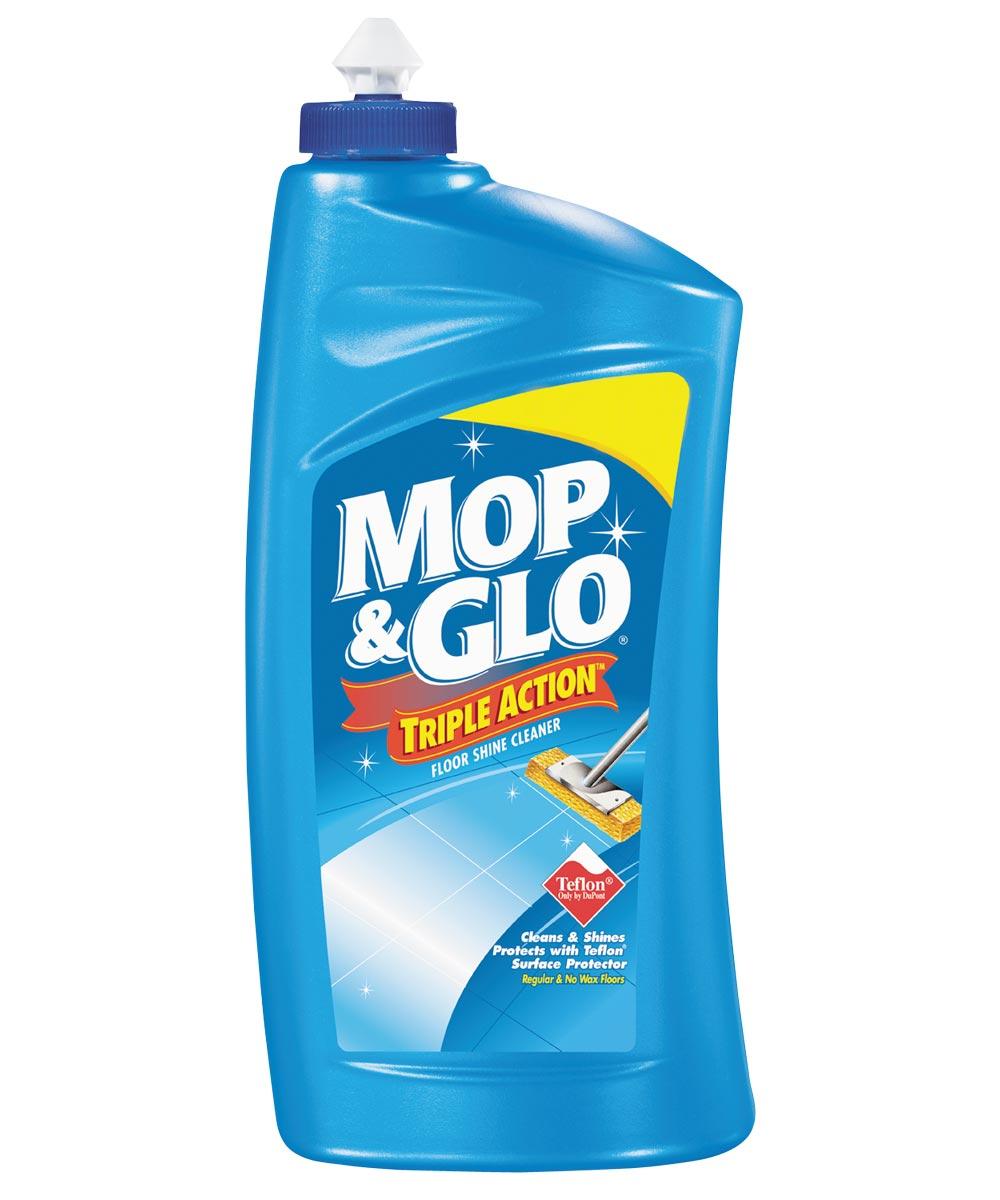 Professional Mop & Glo Triple Action Floor Shine Cleaner, 32 oz., Bottle, Tan, Liquid, Citrus