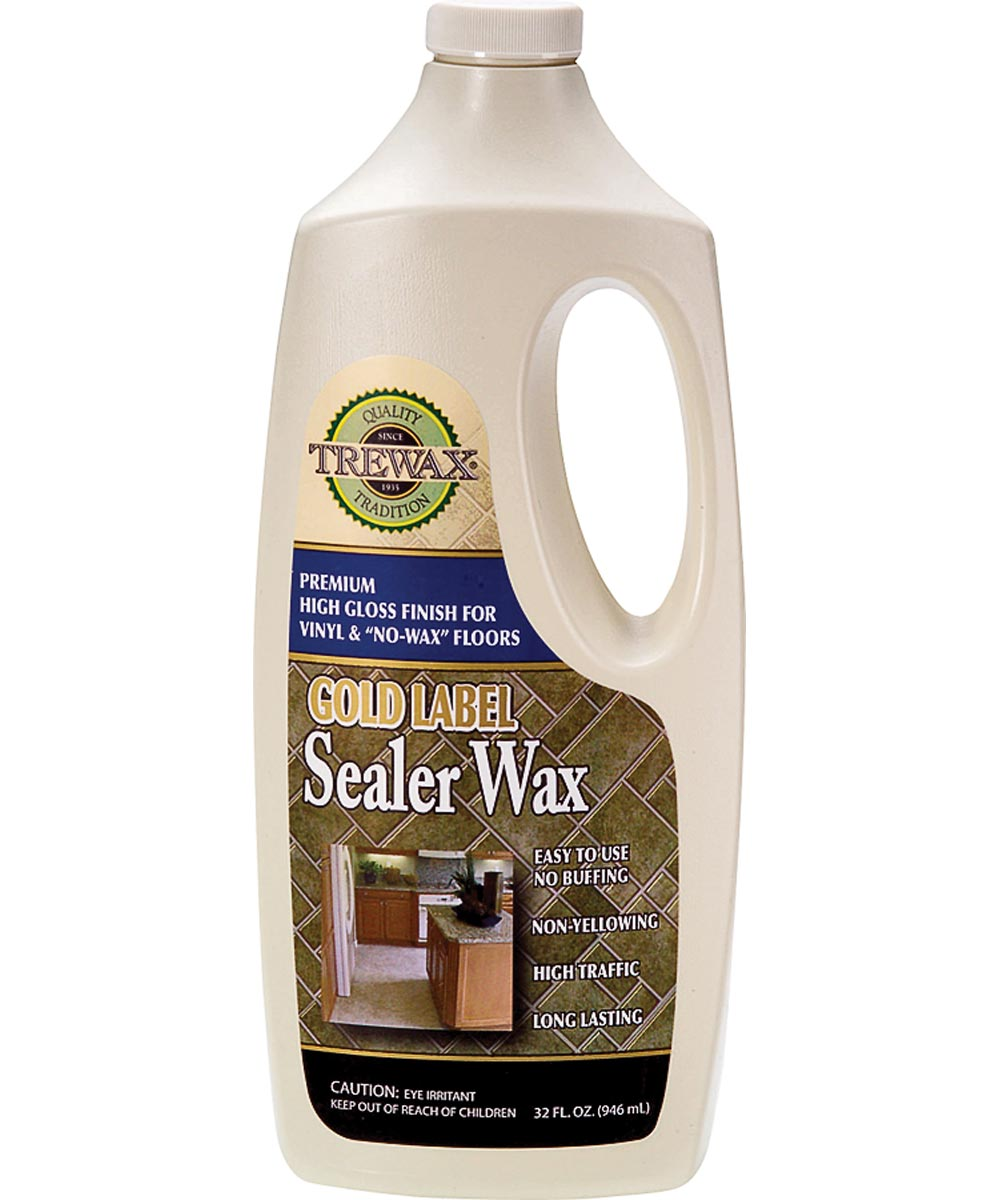 Trewax Gold Label Sealer Floor Wax, 32 oz., Milky White, Liquid, Acrylic