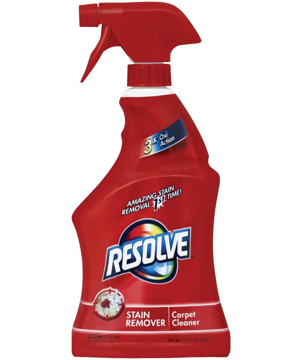 Resolve Triple Oxi Advanced Carpet Stain Remover, 22 oz., Bottle, Clear, Liquid, Citrus, Herbal