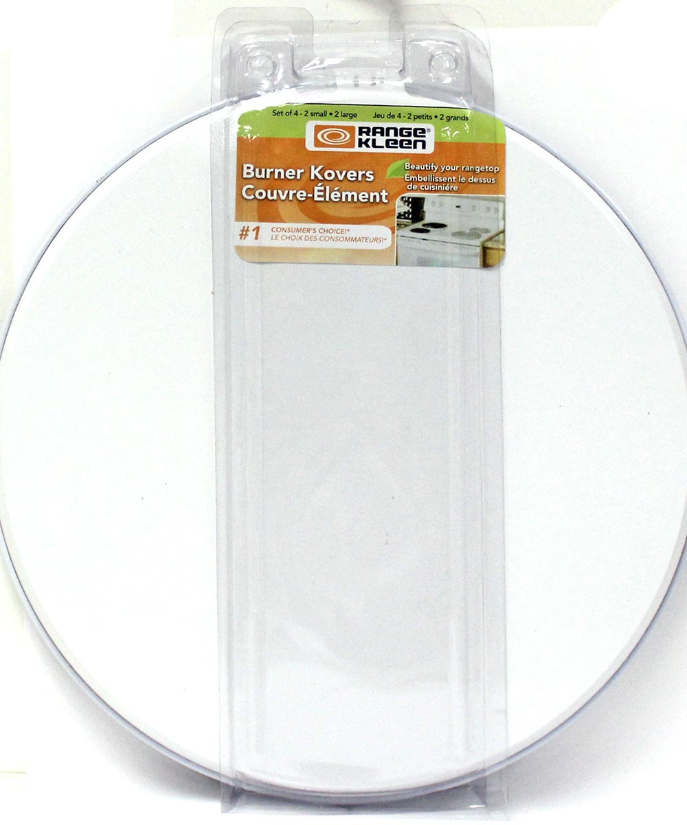 Burner Cover White 4-Pk