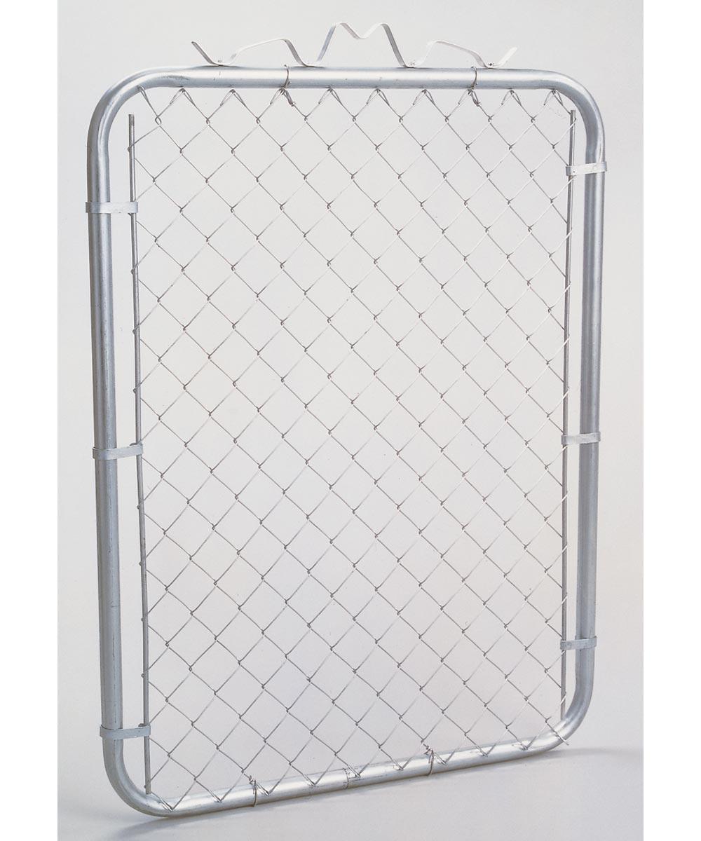Chain Link Walk Gate, 1-3/8 in, 39 in W x 48 in H, Steel