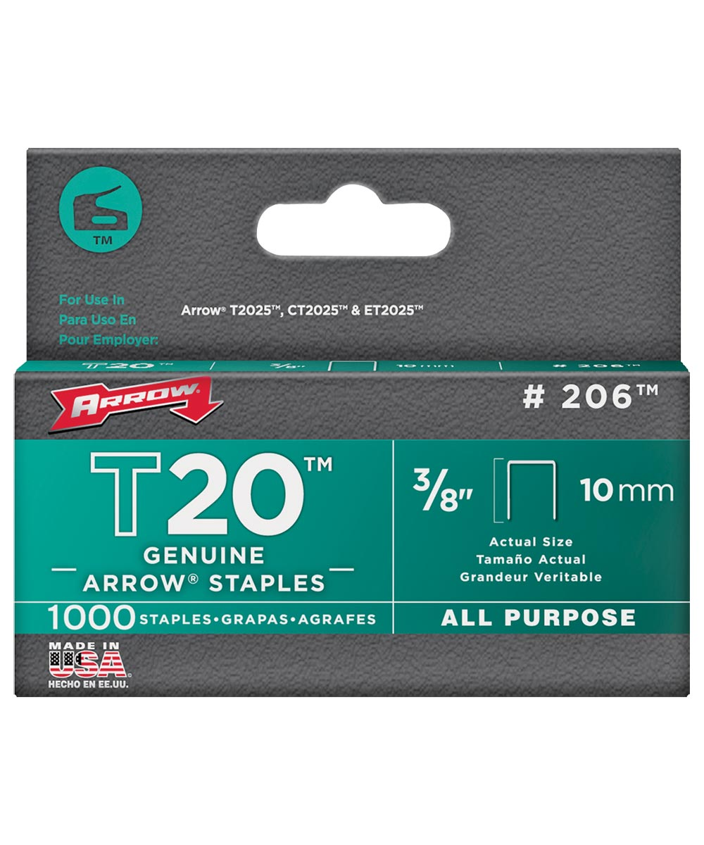 Staples, Flat Crown, 3/8 Inch
