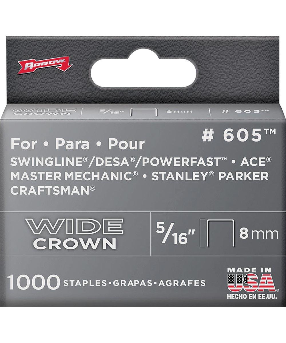 Staples, 600 Series, Wide Crown, 5/16 Inch