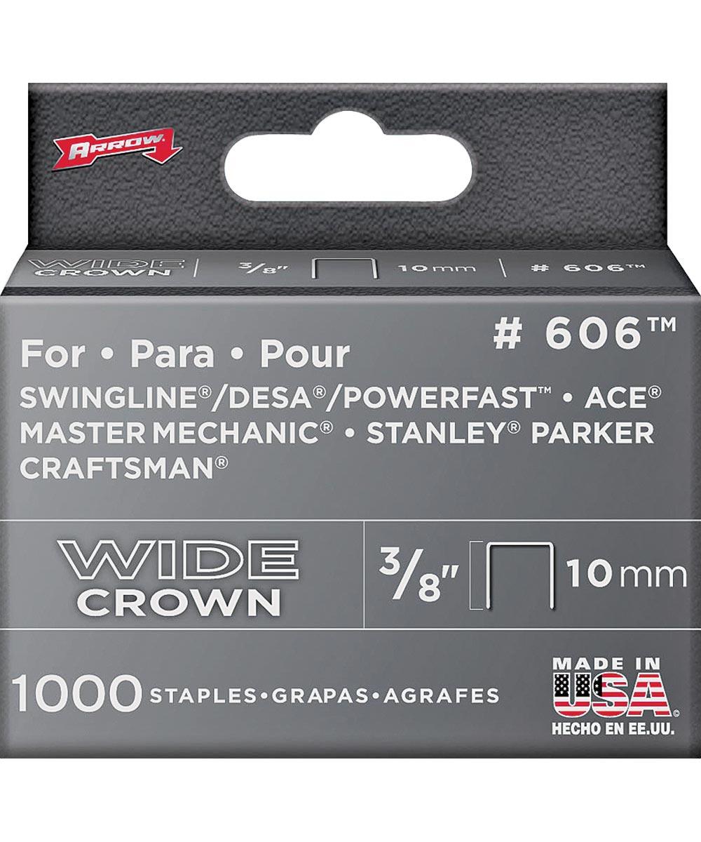 Flat Wide Heavy Duty Crown Staple, 1/2 in., 3/8 in. Leg
