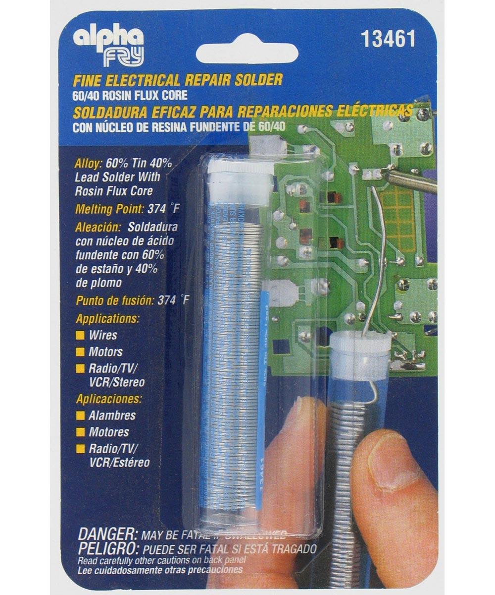 Fine Electrical Repair Solder, 60/40 Rosin Flux Core