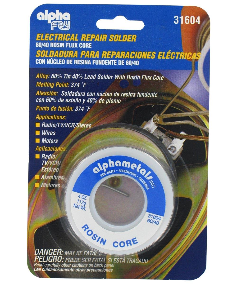 Electrical Repair Solder, 60/40 Rosin Flux Core