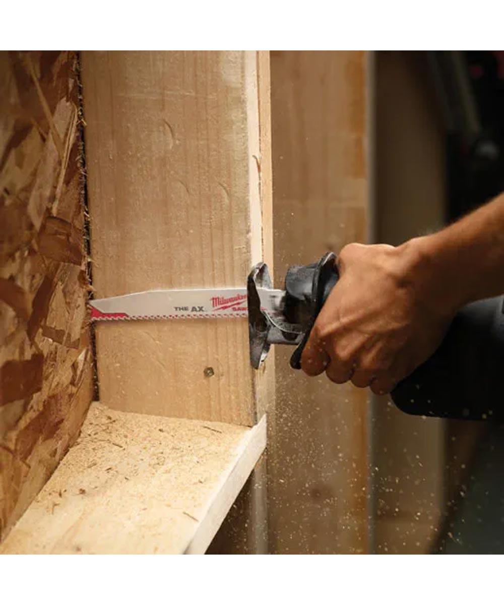 Milwaukee SAWZALL 9 in. 5 TPI AX Nail Embedded Wood Blades, 5 Pack