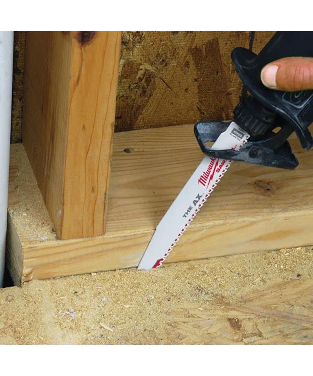 Milwaukee SAWZALL 12 in. 5 TPI AX Nail Embedded Wood Blades, 5 Pack