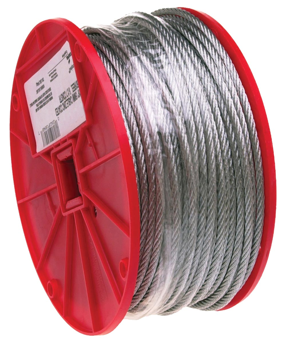 Flexible Uncoated Aircraft Cable, 1/8 in. (Dia), 340 lb (Sold Per Foot)